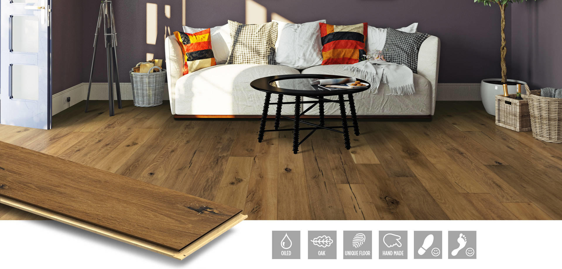 Oak Barrel - exklusivt parkettgolv från NQD Floors
